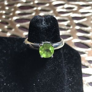 Sterling and Peridot birthstone ring